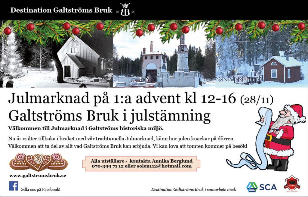 Julmarknad i Galtström